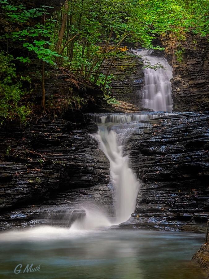 Deckertown Falls by Gary Muth