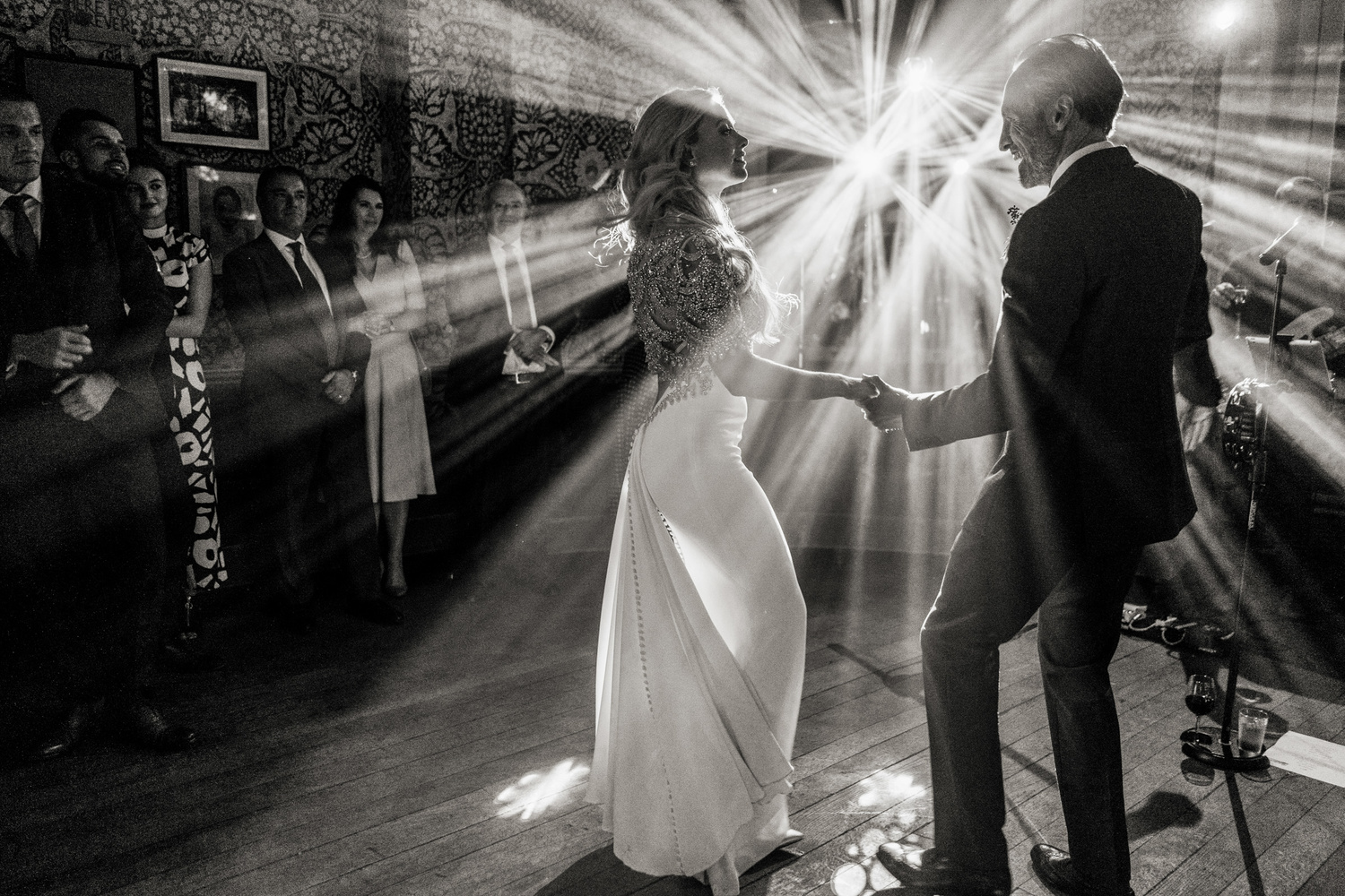 Amazing lighting for this first dance by Allister Freeman