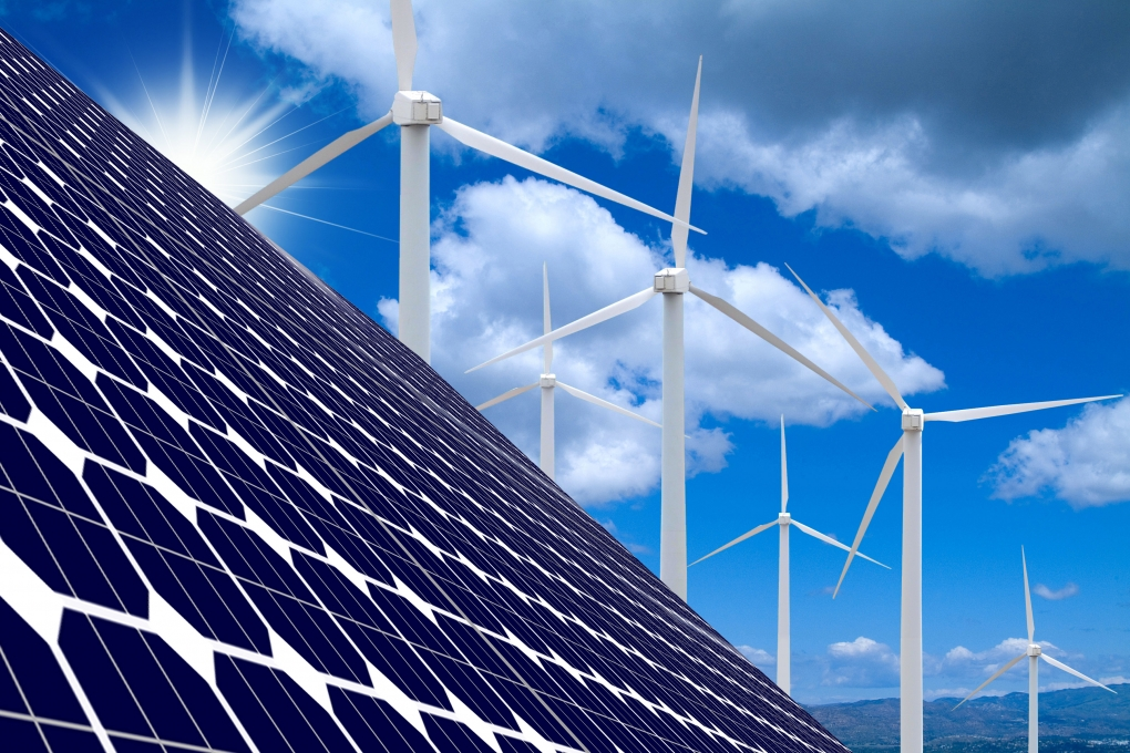 Solar Panel and Wind Farm by Brian Enright