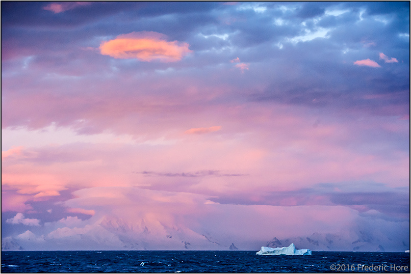 Sunset on Bransfield Strait, Antarctica by Frederic Hore