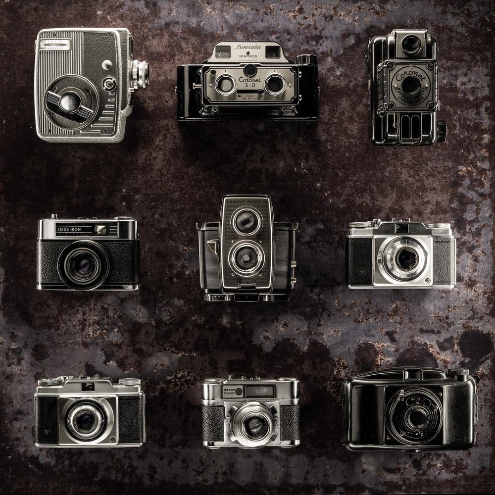 Vintage camera still life by Dayve Ward