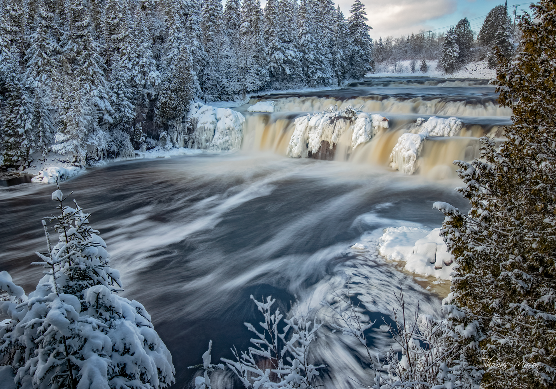 Lepreau Falls In Winter by Thomas Mason