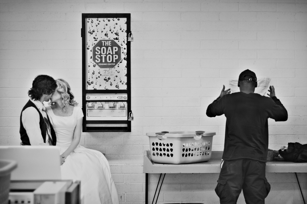 Couple in a Laundromat by Trevor Dayley