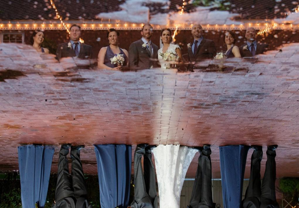 Rainy Wedding Day by Trevor Dayley