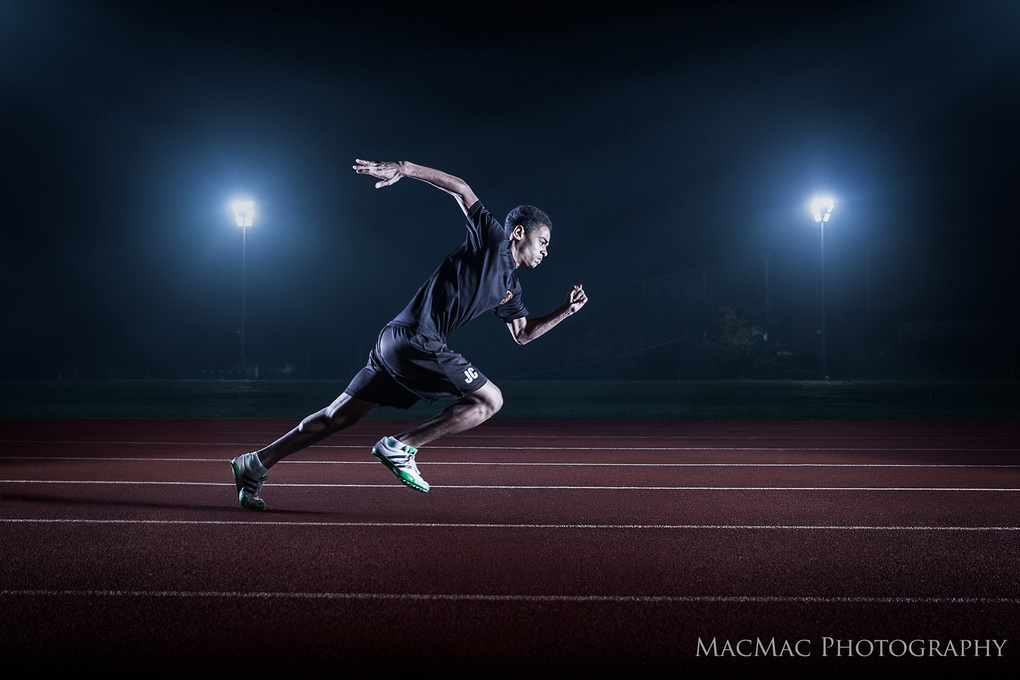 Sprinter Action by Mike Macdonald