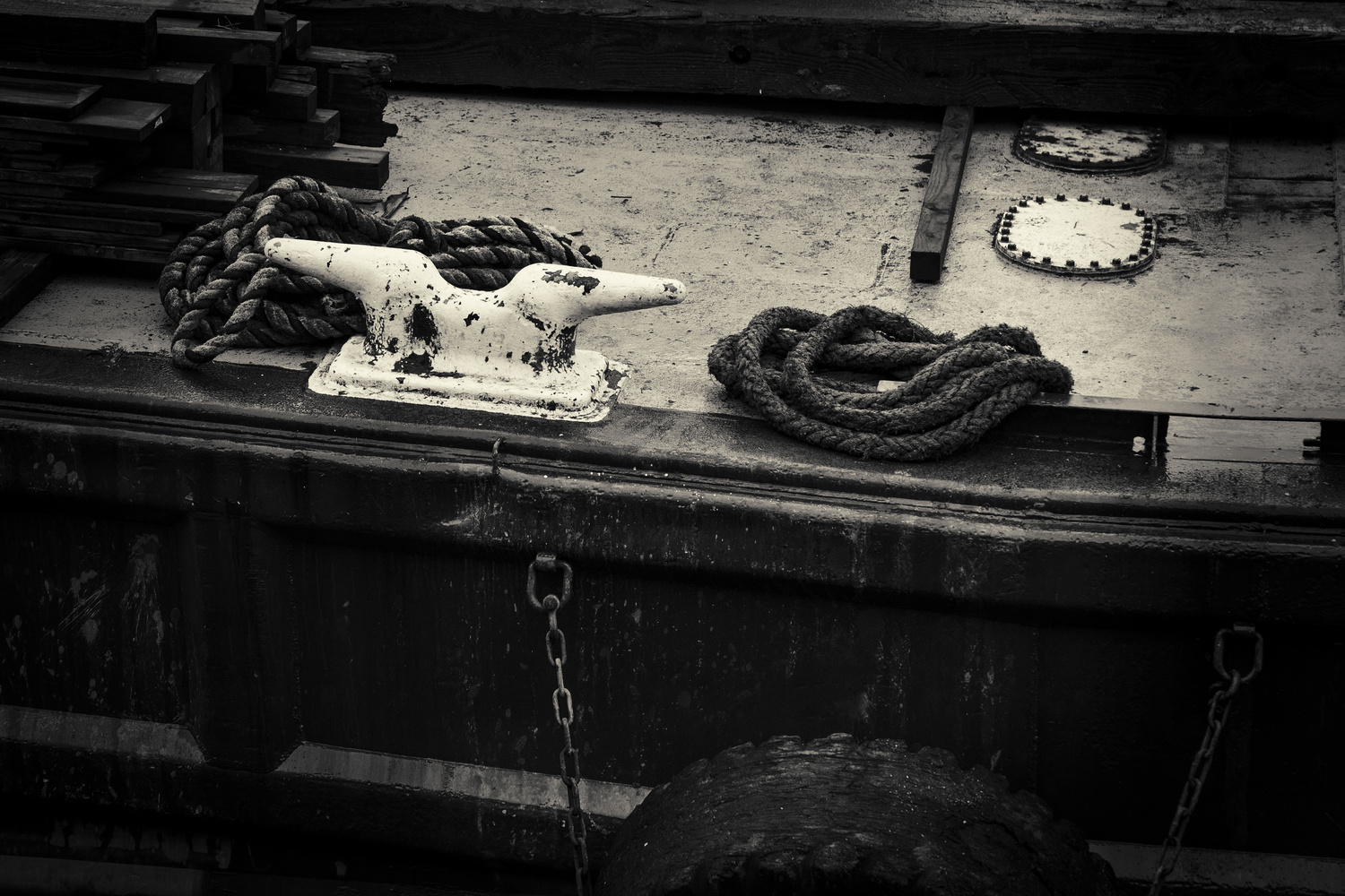 Cleat and Mooring Lines by Gary Horsfall