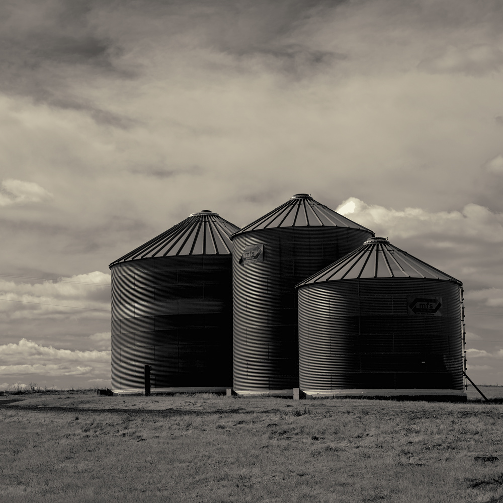 Grain Silos by Gary Horsfall