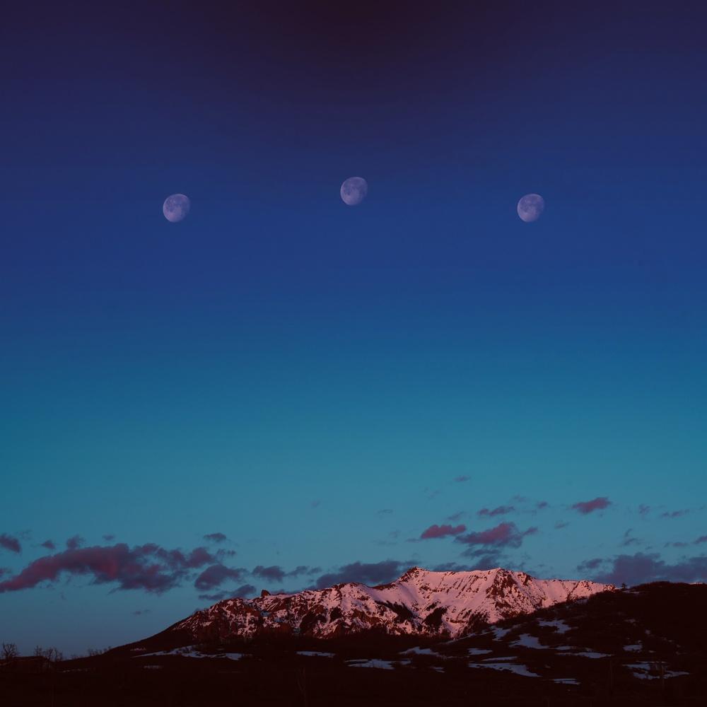 3 Moons over Telluride by Adam Vollick