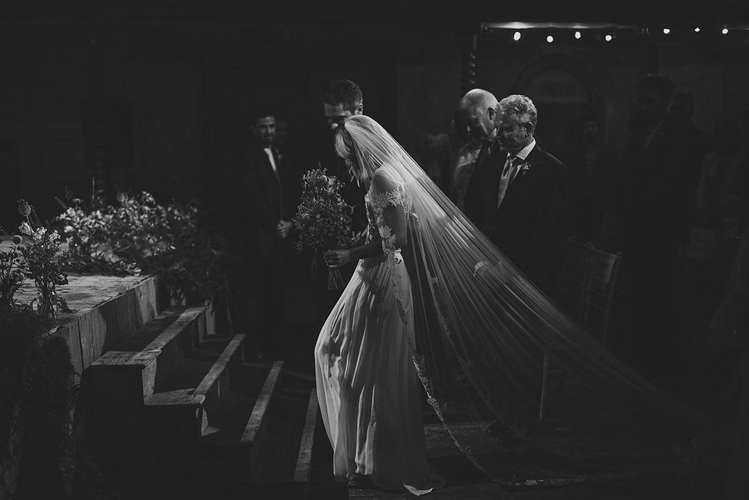Walking up the aisle by Rik Pennington