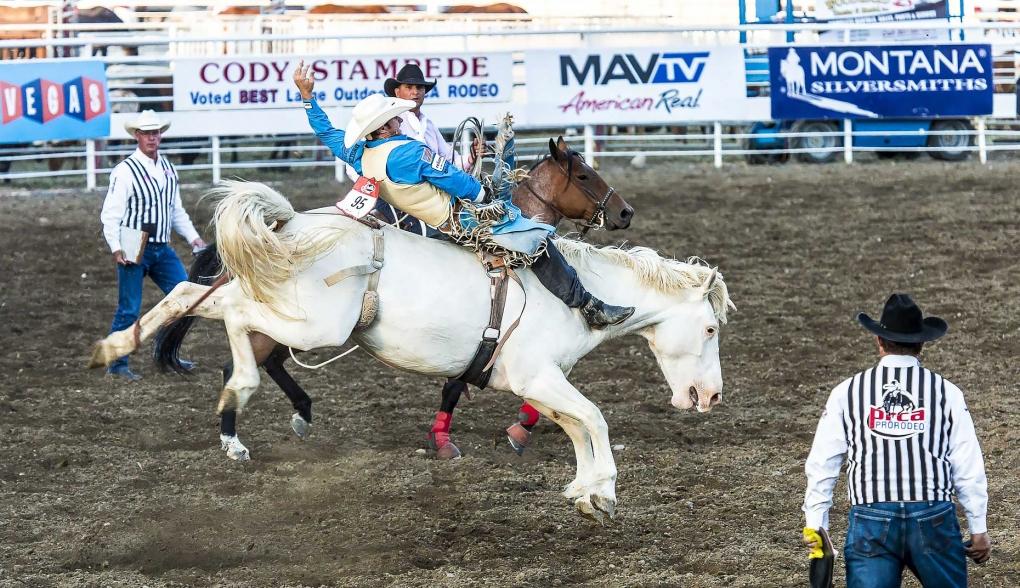 Riding a Rank Bucking Horse by Jason Whitman