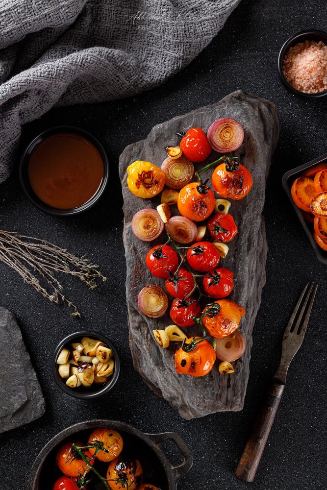 Grilled Tomatoes by Abhishek Khanna