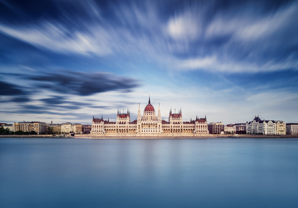 The Hungarian Parliament Building by Thomas Mørkeberg