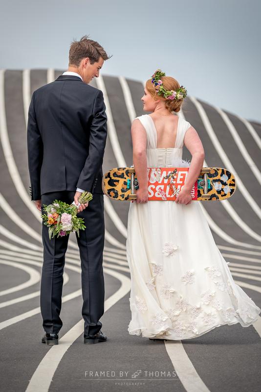 The skater bride by Thomas Mørkeberg