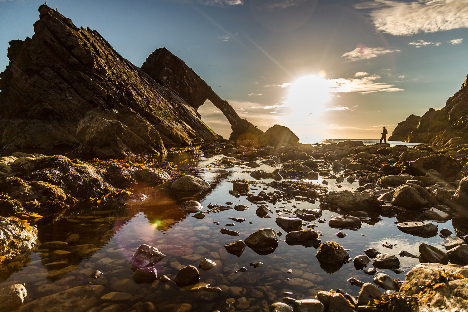 Bow and Fiddle Rock, Scotland by Imran Mirza