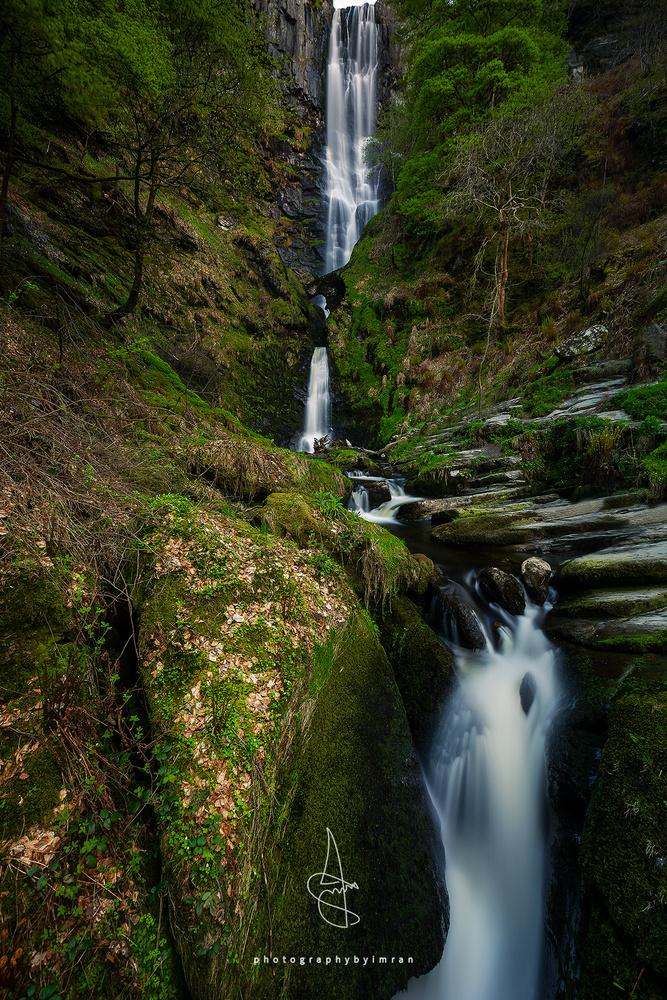 Pistyll Rhaeadr Waterfall, Wales by Imran Mirza