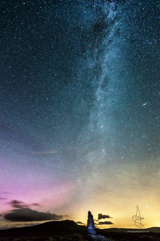 Milkyway and Aurora by Imran Mirza