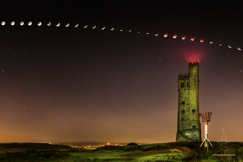 Red Blood Supermoon, Yorkshire by Imran Mirza