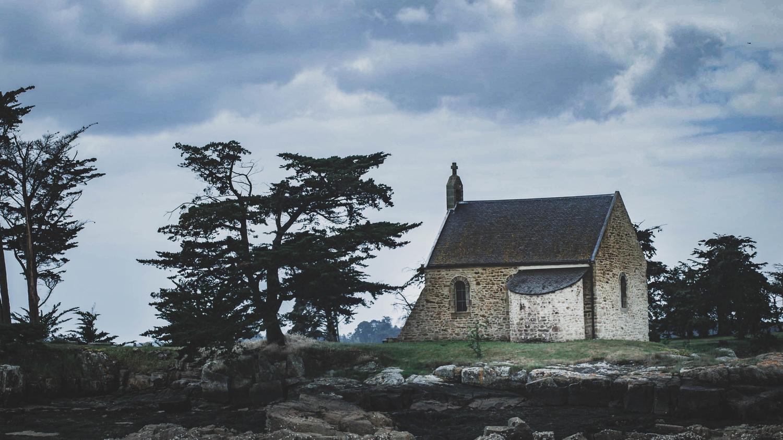 old church on a little island. by AHMAD SHOKAIR