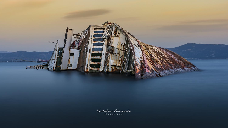 """Shipwreck """"MS Mediterranean Sky"""" by Konstantinos Kiriazopoulos"""
