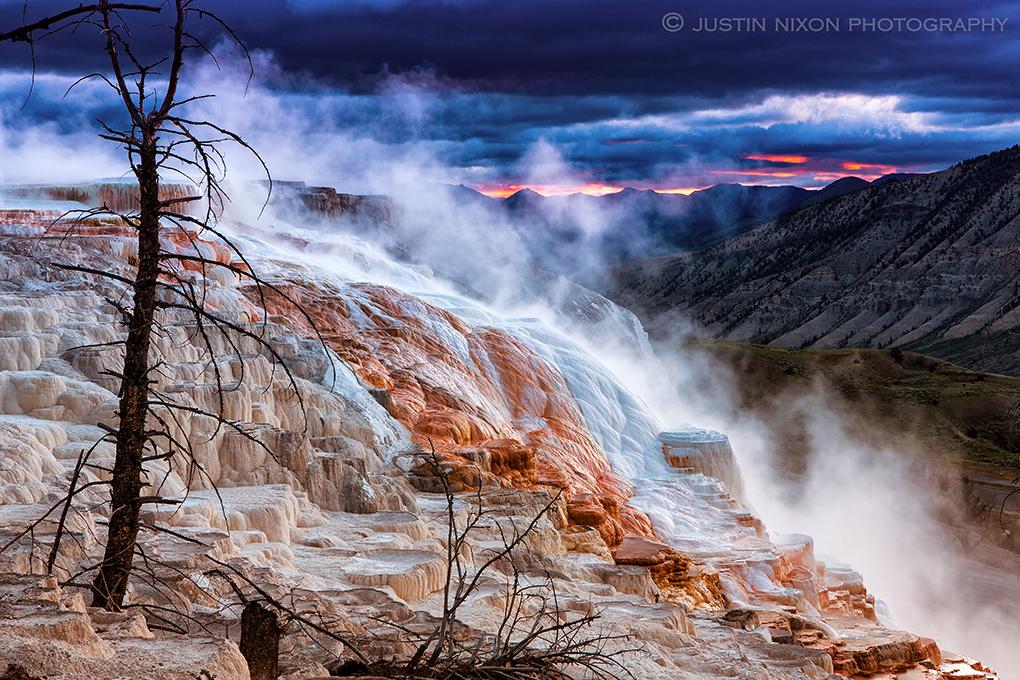 Mammoth Hot Springs by Justin Nixon