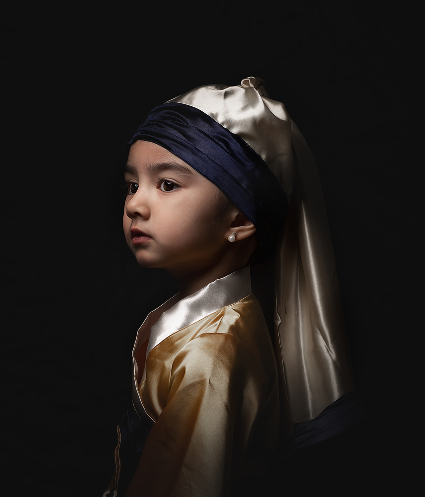 Child with a Pearl Earring by Richard Gatmaitan