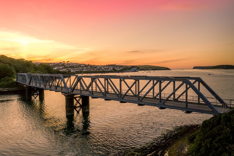 The Old Iron Bridge Wadebridge by Pete Cardwell