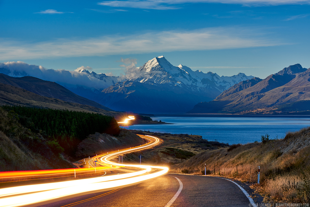 The Road to Mt. Cook by Elia Locardi