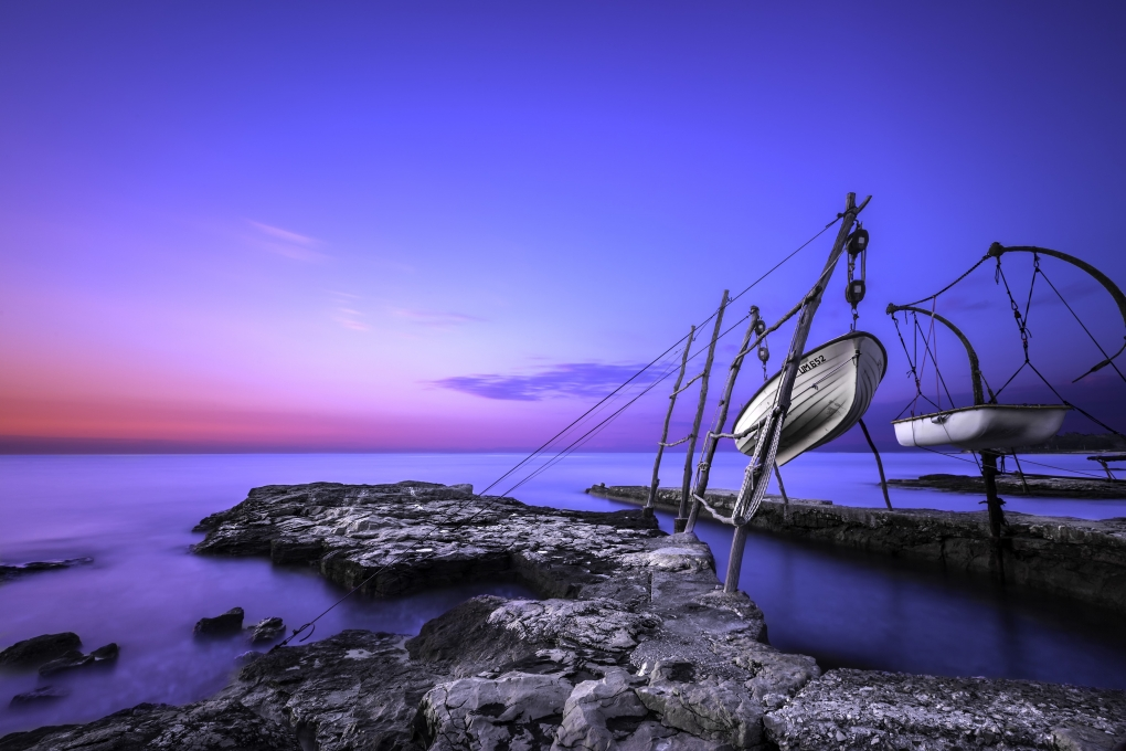 Hanging boats of Istria by Bruno Kolovrat