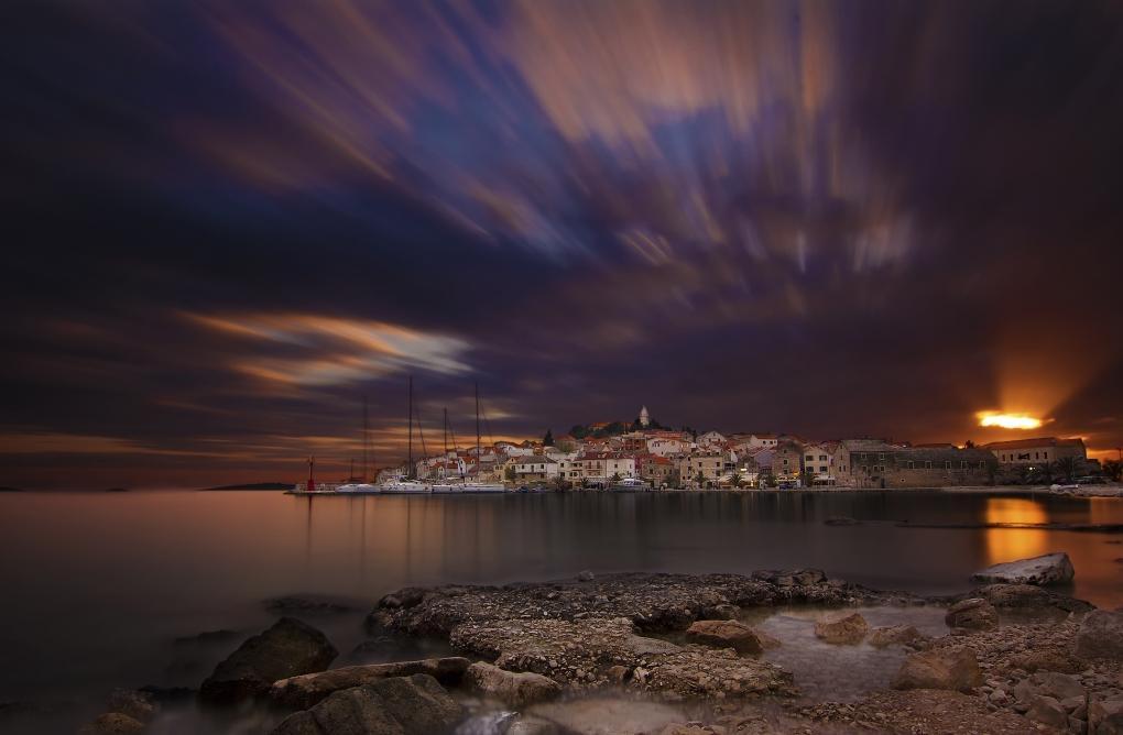 Dalmatian town by Bruno Kolovrat