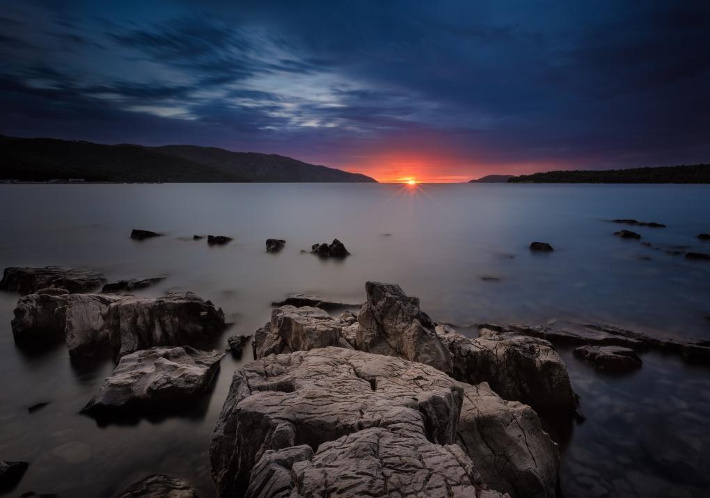 Hvar sunset by Bruno Kolovrat
