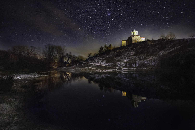 Cetina spring at night by Ilija Veselica