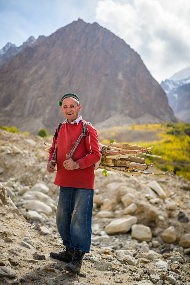 Wood Carrier, Pamirs, Tajikistan by Merrick Chase