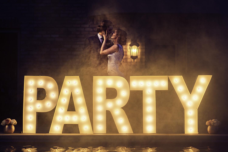 Backyard Pool Party Wedding by Megan Day