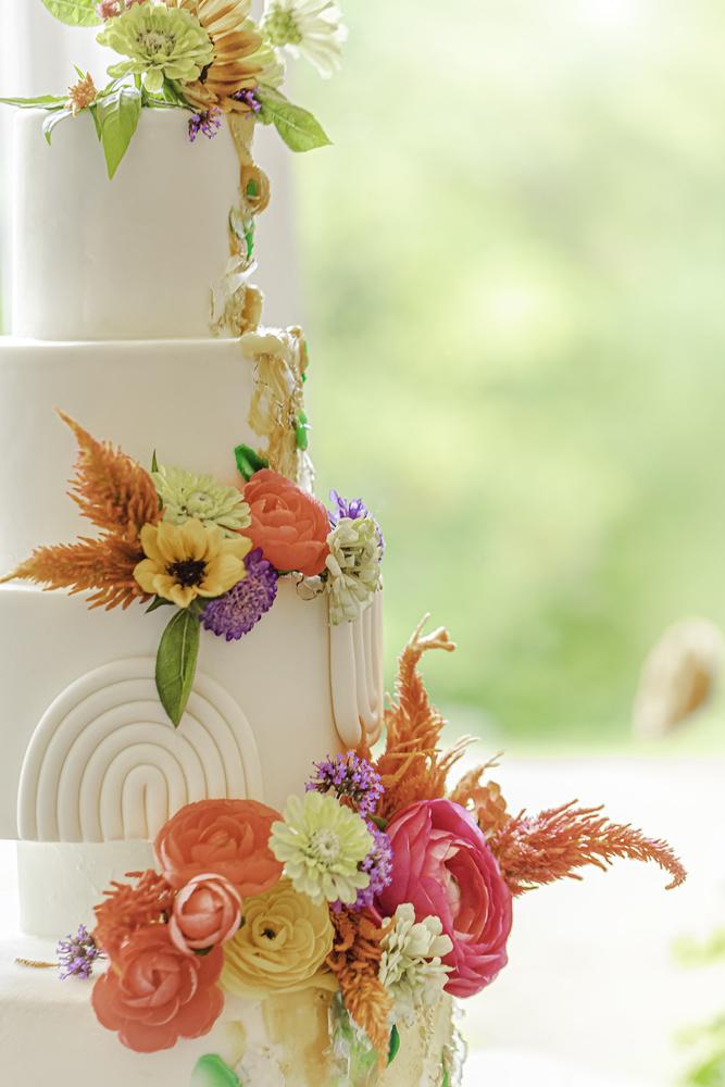 Summer Wedding Cake by Megan Day