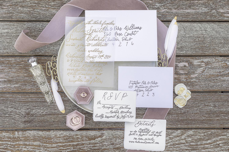 Pink Wedding Flat Lay by Megan Day