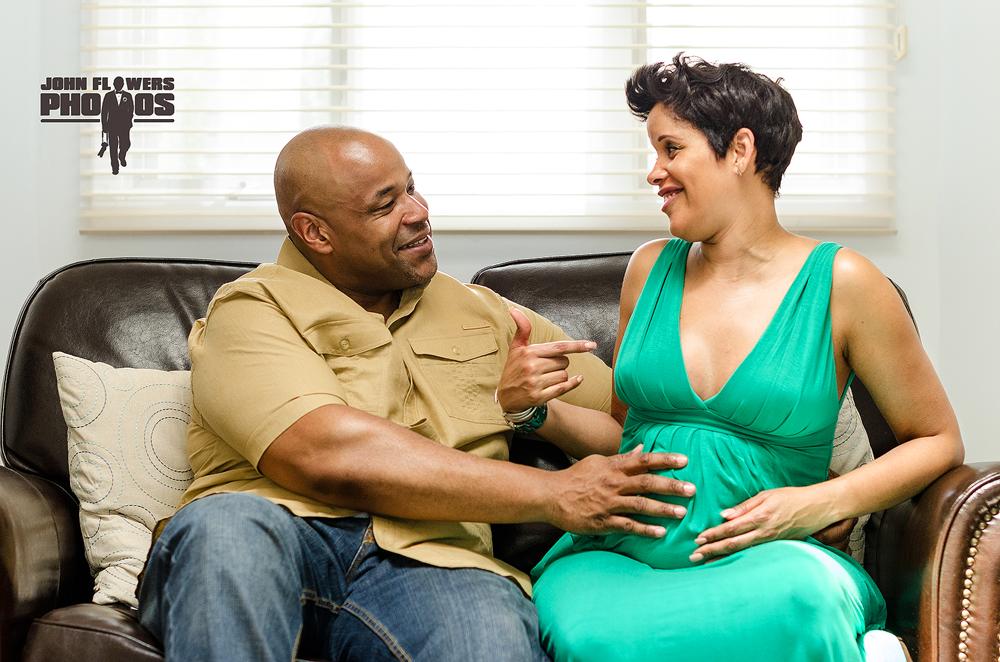 Pat & Dwayne Maternity Session by John Flowers