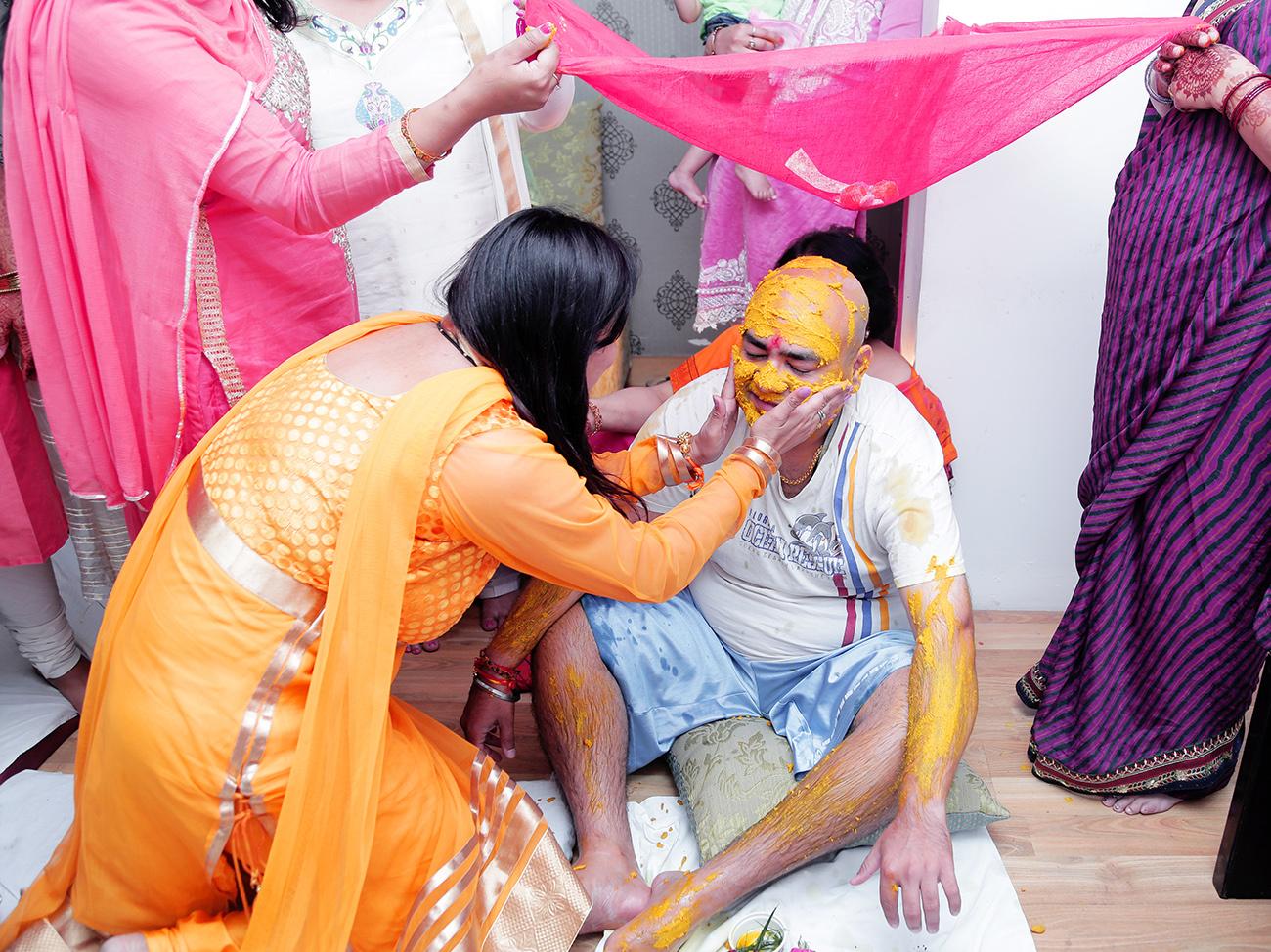 Groom Haldi Ceremony Delhi Wedding by sandeep kashyap