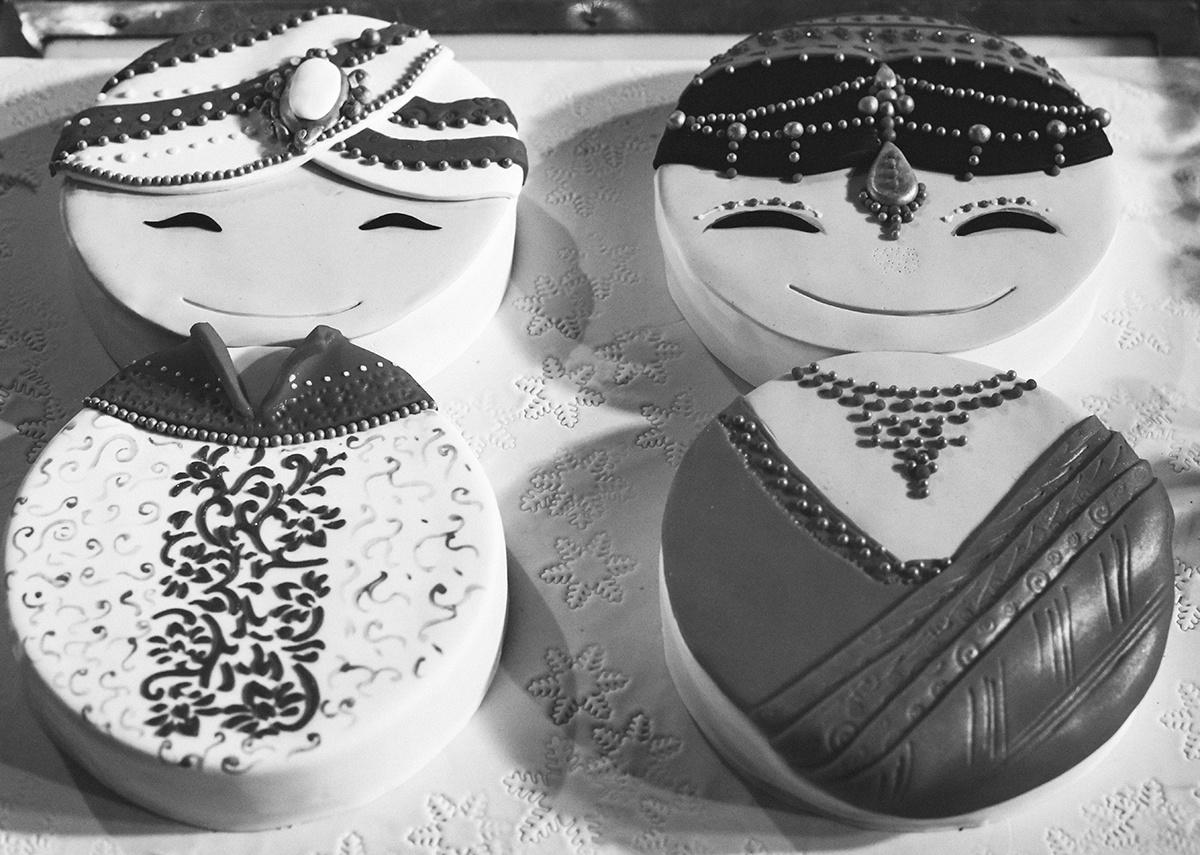 Indian wedding cake Delhi Wedding by sandeep kashyap