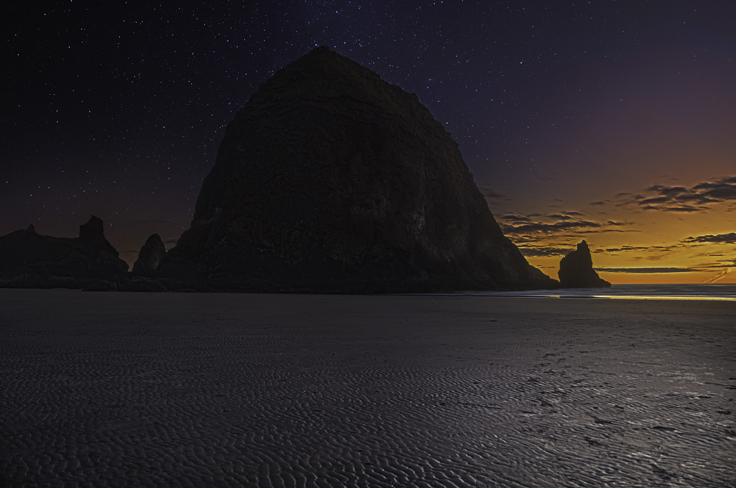 Dusk at Cannon Beach by Mariano de Miguel