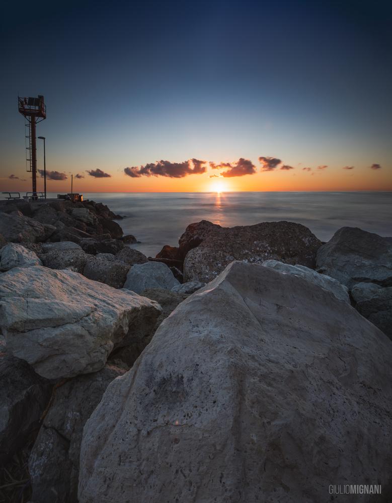 Sunrise in Riccione by Giulio Mignani