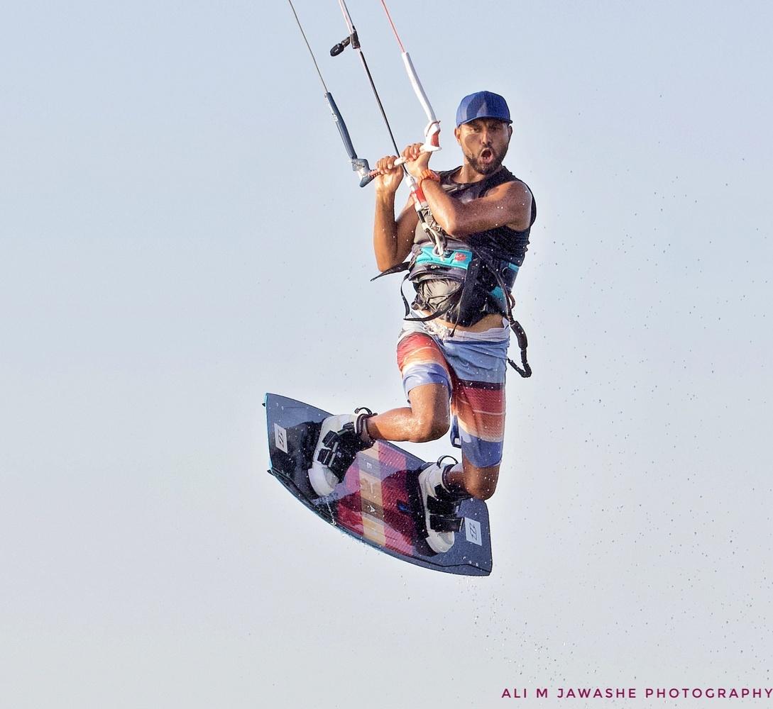 Kiteborading by Ali Hassan
