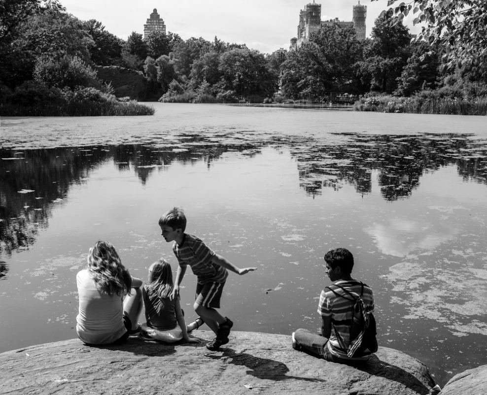 Kids at Central Park by Chris Knight