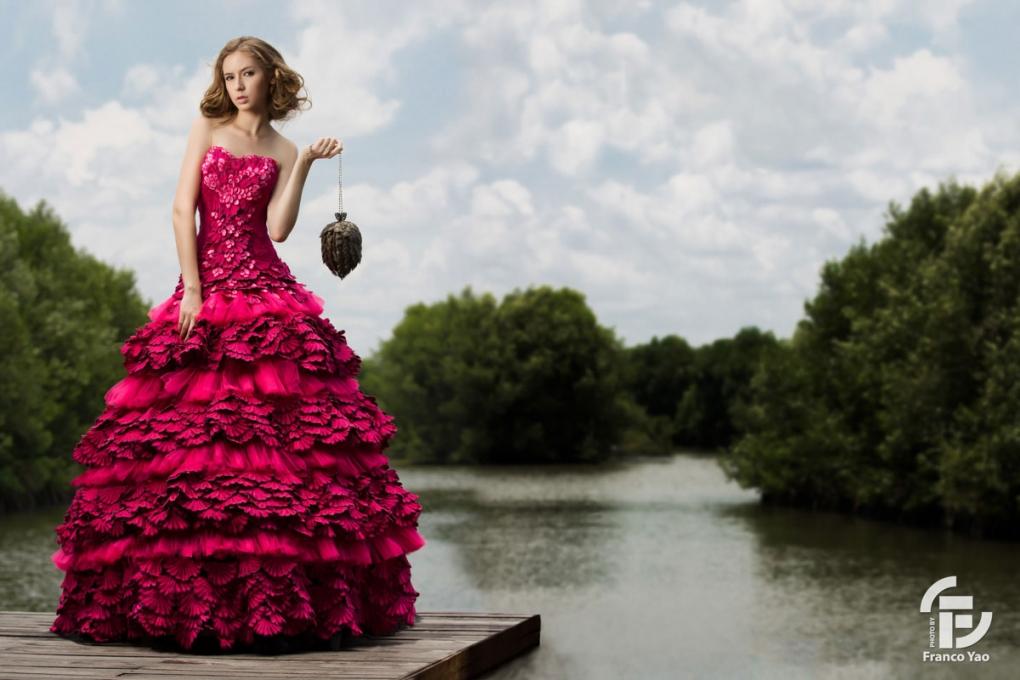 Pink Goddess by Franco Yao