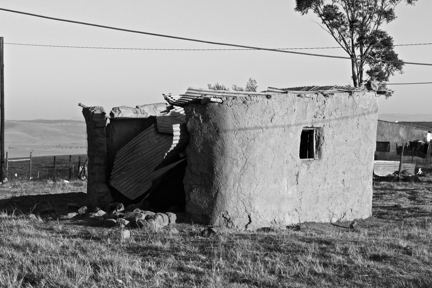Old Mud House - Rural Landscapes by Sivuyisiwe Giba