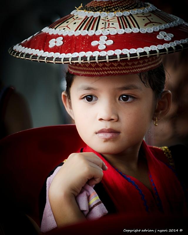 Dayak Traditional headgear by Adrian J Nyaoi