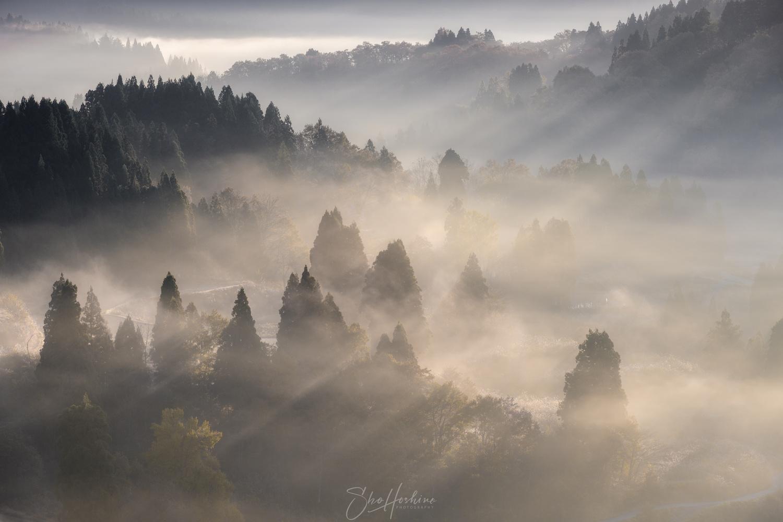 Village morning by Sho Hoshino