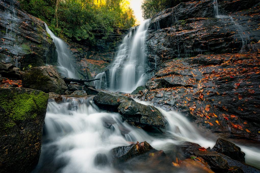 Autumn at Soco Falls by Matthew Cooper