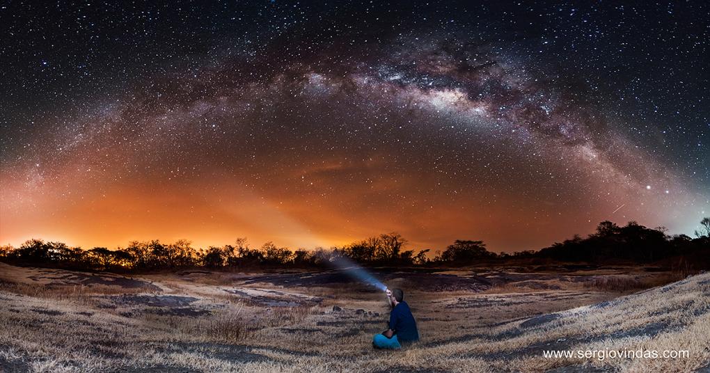 Milky Way Panorama by Sergio Vindas