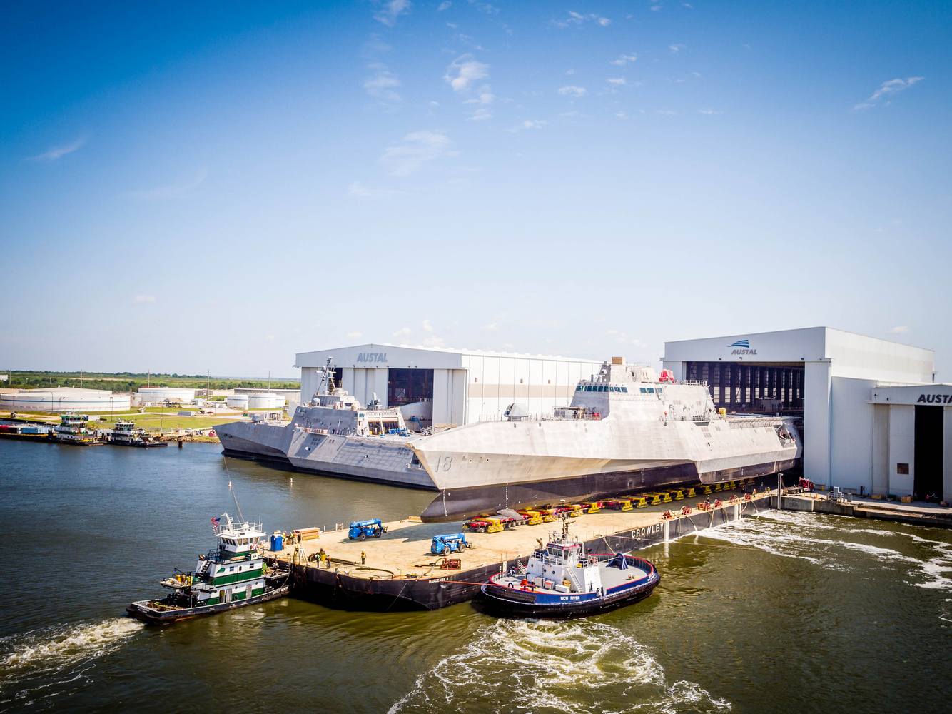 LCS Ship Load Out by Tony Broussard