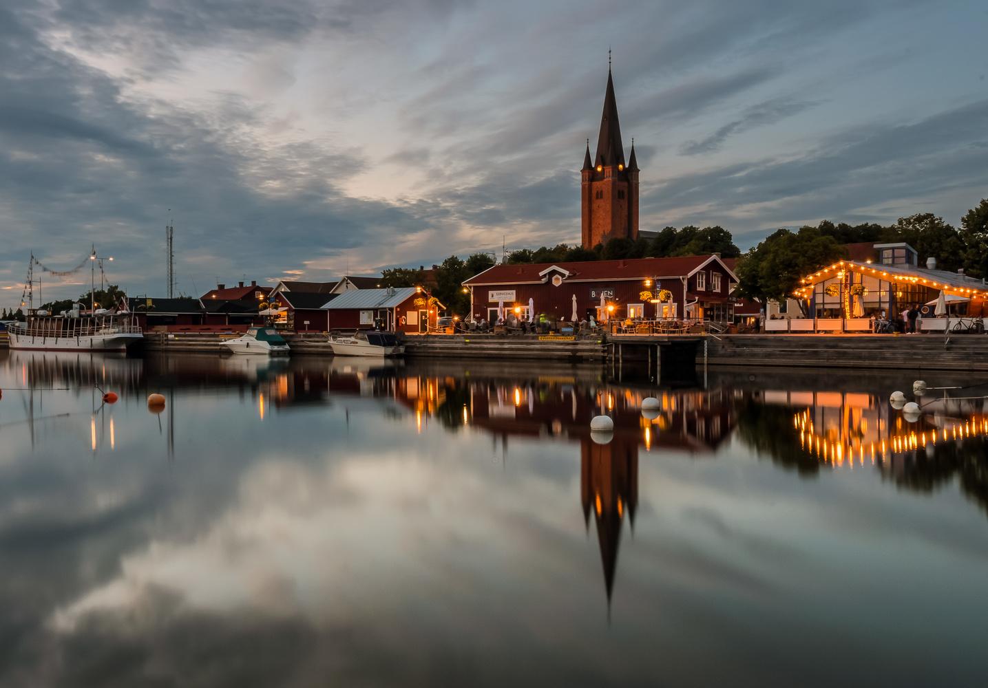 Mariestad's guest harbor by Daniel Beckman